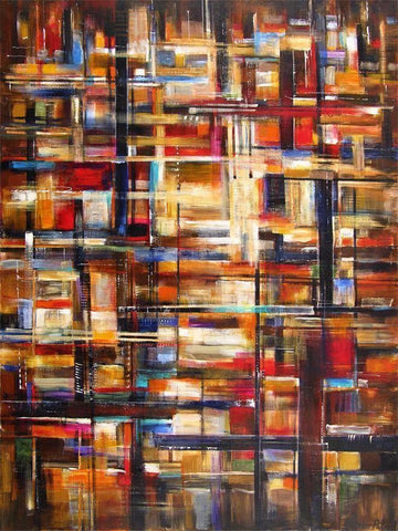 Abstract art painting by Chicago artist Kathleen Patrick
