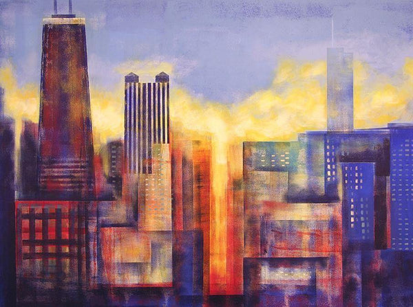 01796b93b76 Buy Chicago Art Painting Giclees. Chicago Cityscape Skyline Canvas Art  Prints In An Artist Owned Online Gallery - Chicago Skyline Art - Original  ...