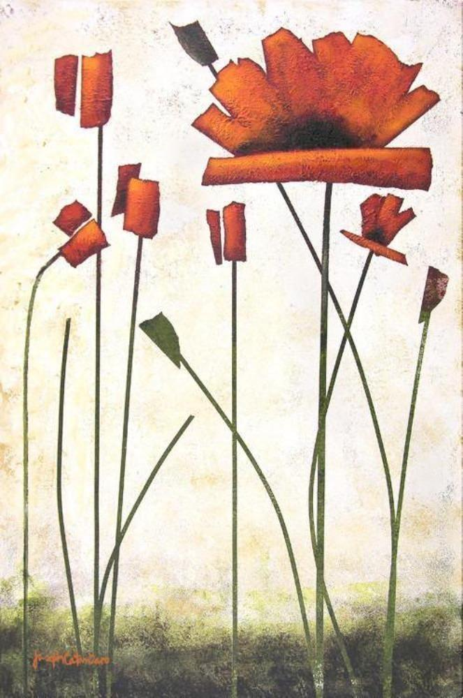 "Poppy Painting Print- ""Blooming Poppy"""