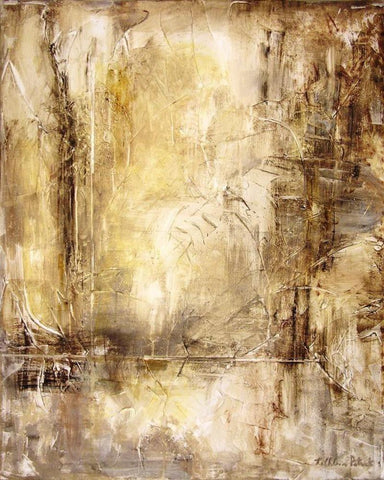 abstract neutral canvas wrap print from a large abstract painting in browns and tans.