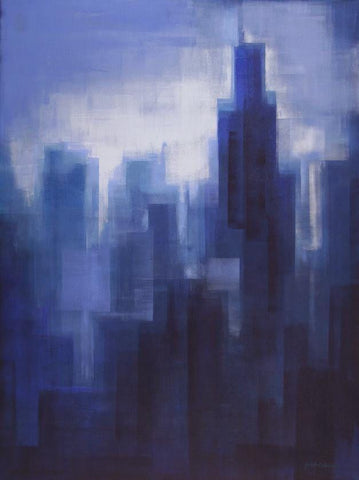 "Chicago Canvas Print - ""Chicago In The Mist"""