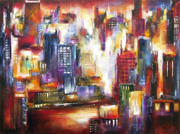 Chicago Skyline Art Print - Chicago River