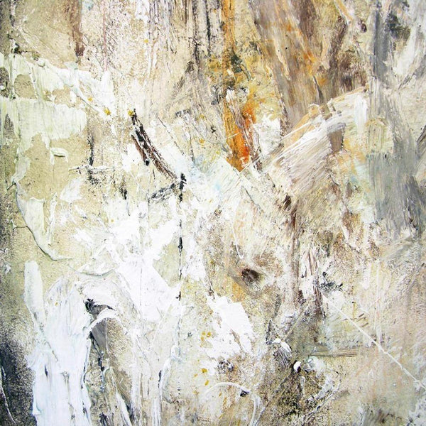 textural neutral colored abstract art - abstract art print on canvas