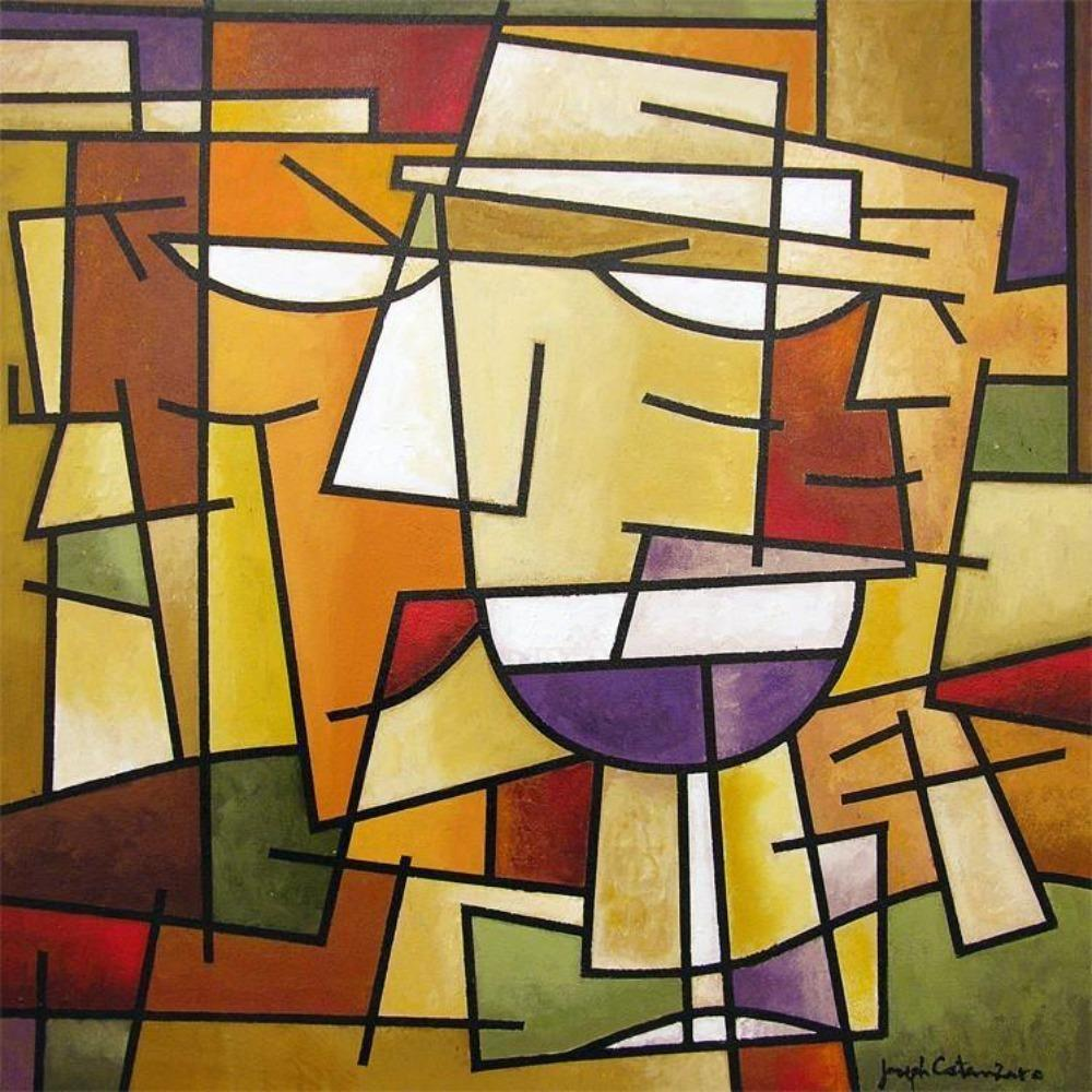 Cubist Wine Art