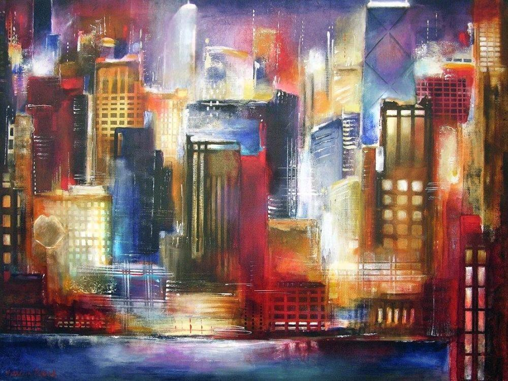 Painting of One Evening in Chicago