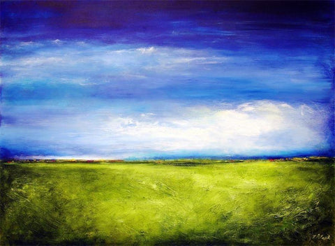 "Contemporary Landscape Canvas Print- ""One Summer Day"""