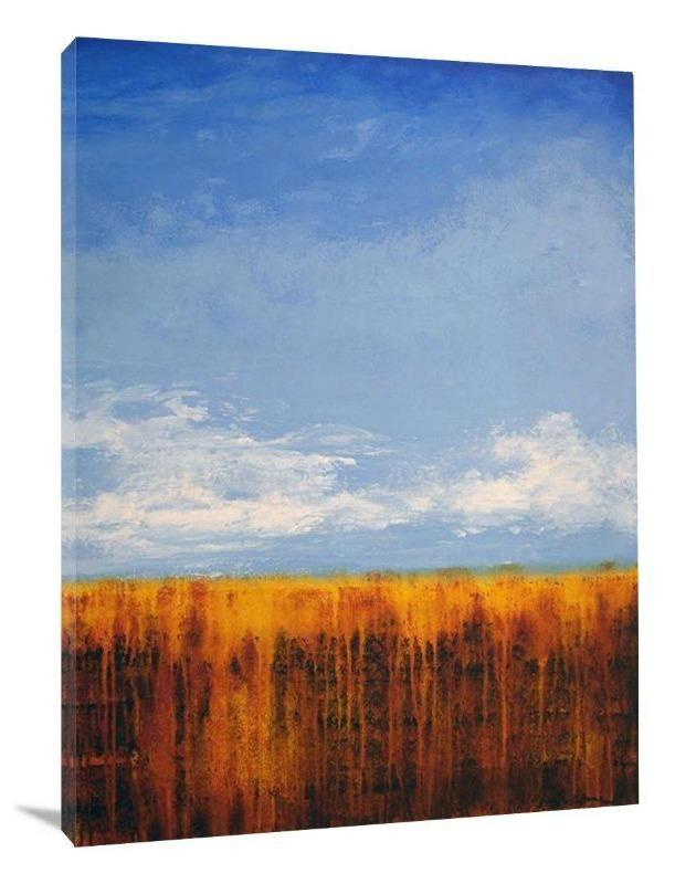 Abstract Contemporary Painting Print Sunny Day Original Art Chicago Skyline Art