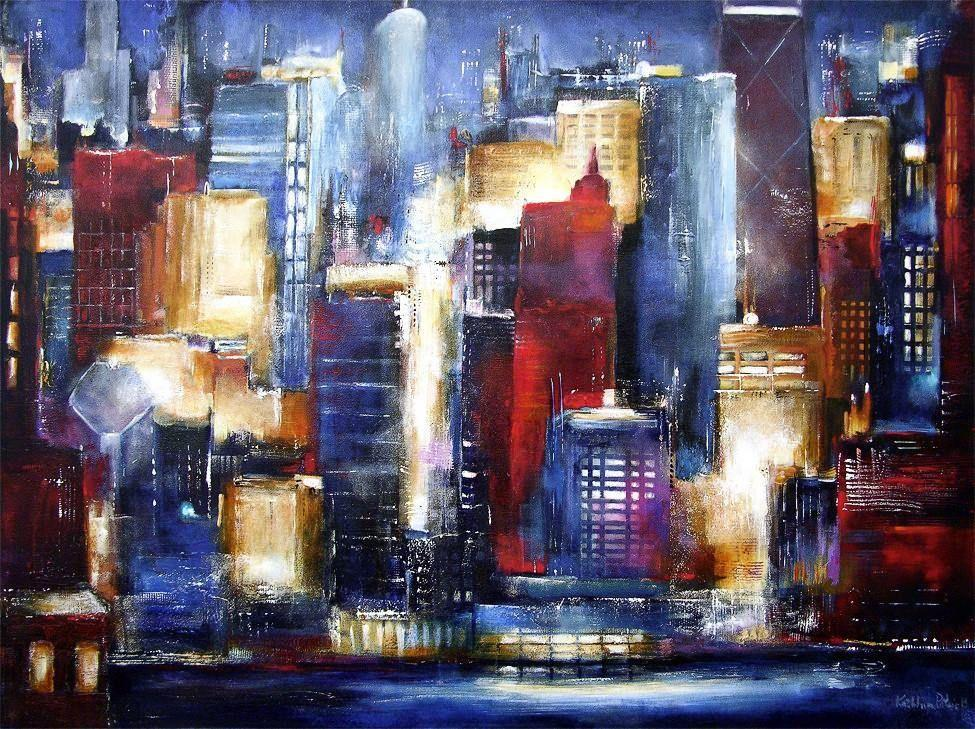 Chicago Skyline Painting Print