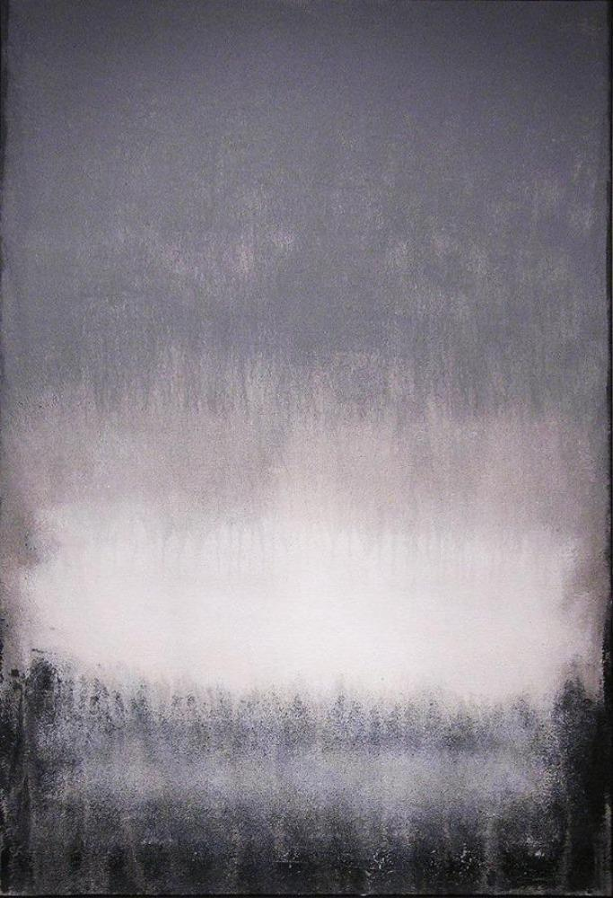 Rothko-esque painting in gray