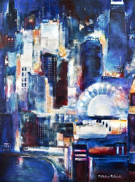 "Chicago Skyline Canvas Art Print  - ""Navy Pier - Chicago"""