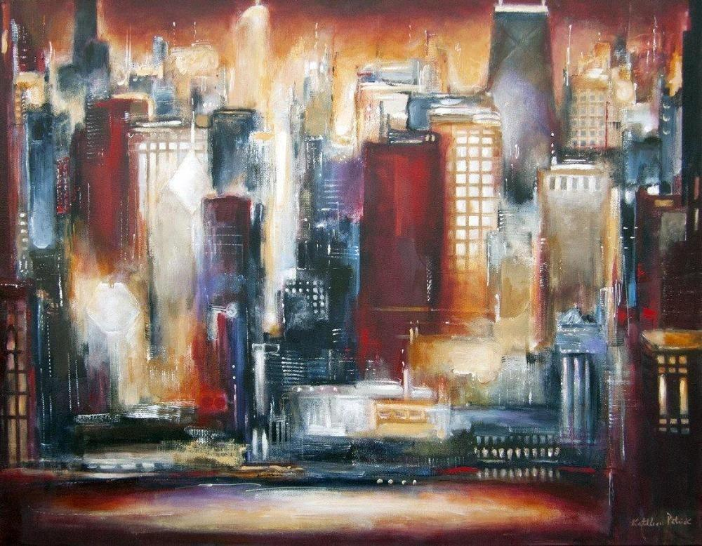 "Chicago Skyline Print - ""Chicago Skyline - The Sunset View"""