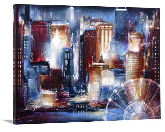 "Chicago Skyline Canvas Print - ""Chicago From the Lake"""