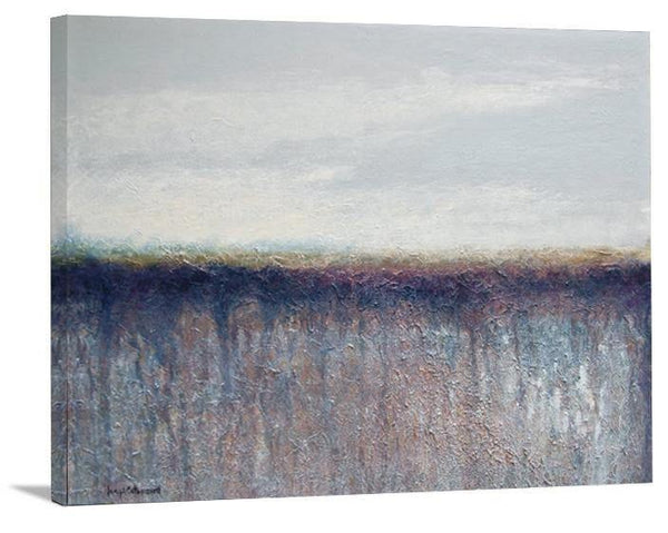 "Contemporary Landscape Neutral Colored Print on Canvas- ""Misty"" - Chicago Skyline Art"
