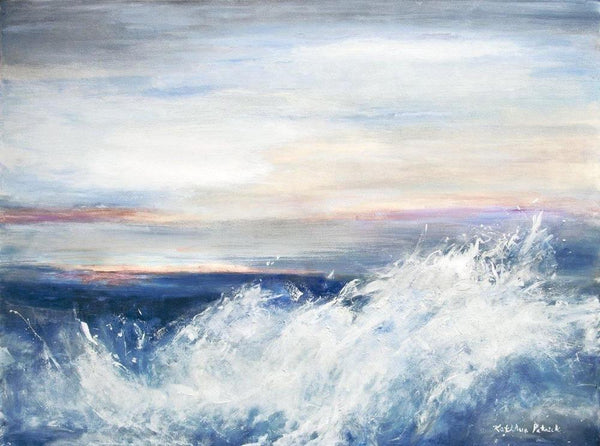 "Contemporary Seascape Canvas Print - ""Pacific Sunset"""
