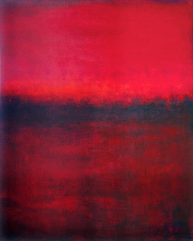 "Large Red Abstract Painting - 48"" x 60"" - ""Red Field Dream"" SOLD"