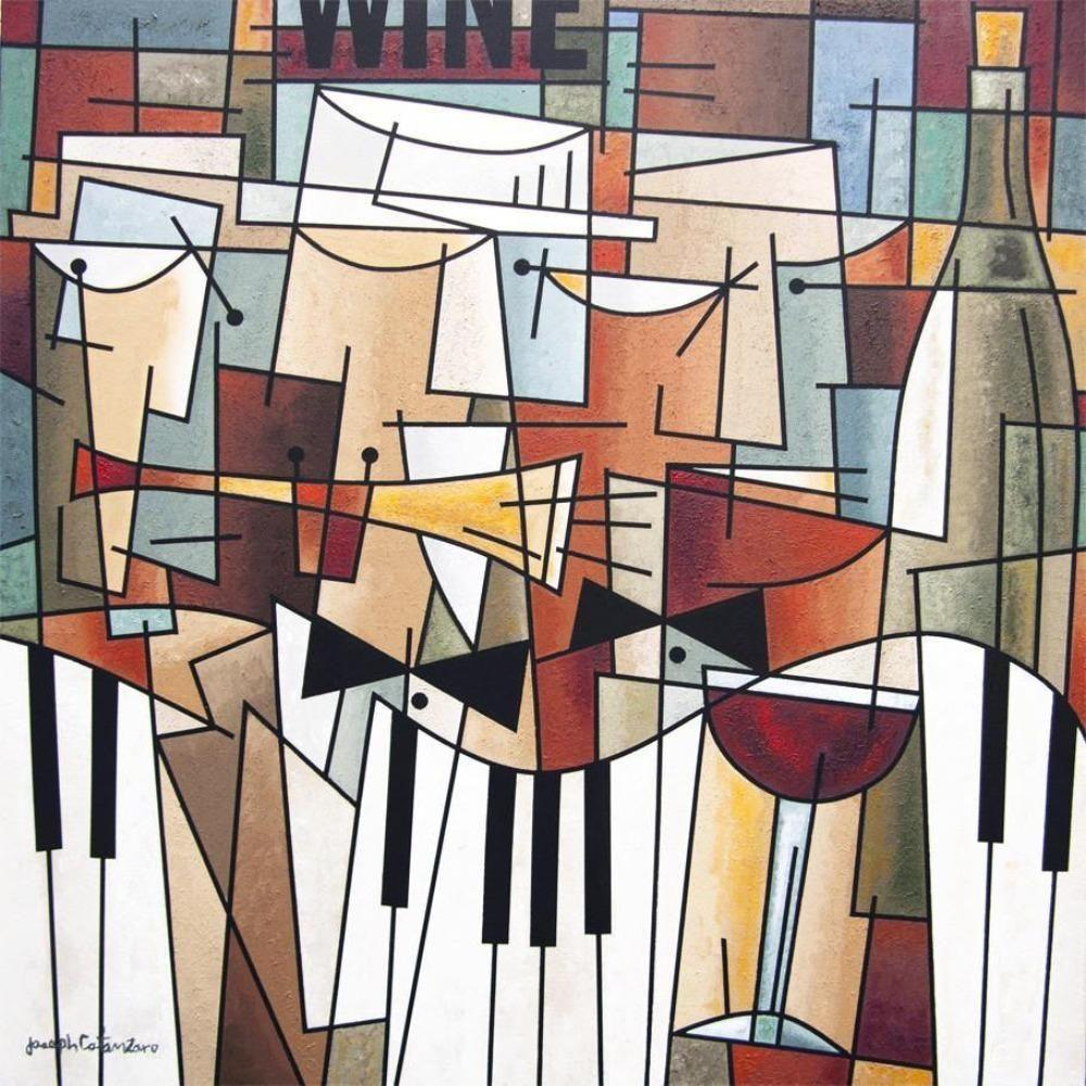 Wine and Music Canvas Art Print