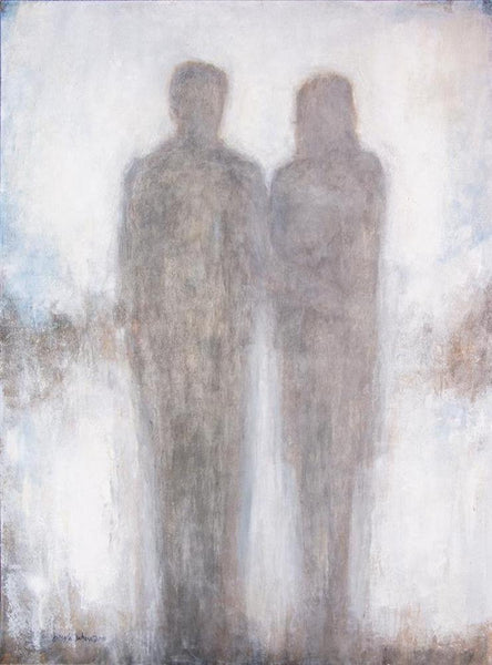 "Romantic Couple In Love Canvas Art Print - ""Holding Hands"""