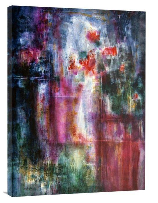 "Abstract Floral Art Canvas Print - ""Garden Dreams"" - Chicago Skyline Art"