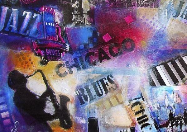 "Jazz Music Art Print - ""Chicago Jazz and Blues"""