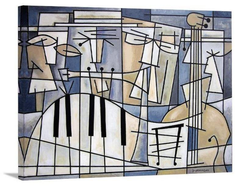 "Music Art Canvas Wrap Print - ""Mellow Jazz Quartet"""