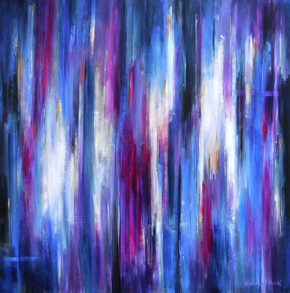 "Abstract Cityscape Canvas Print - ""City Rhythms II"""