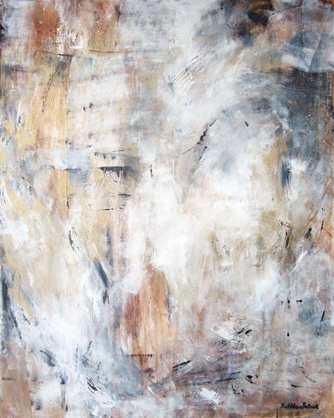 "Neutral Abstract Canvas Wrap Print - ""Traces of Time"""