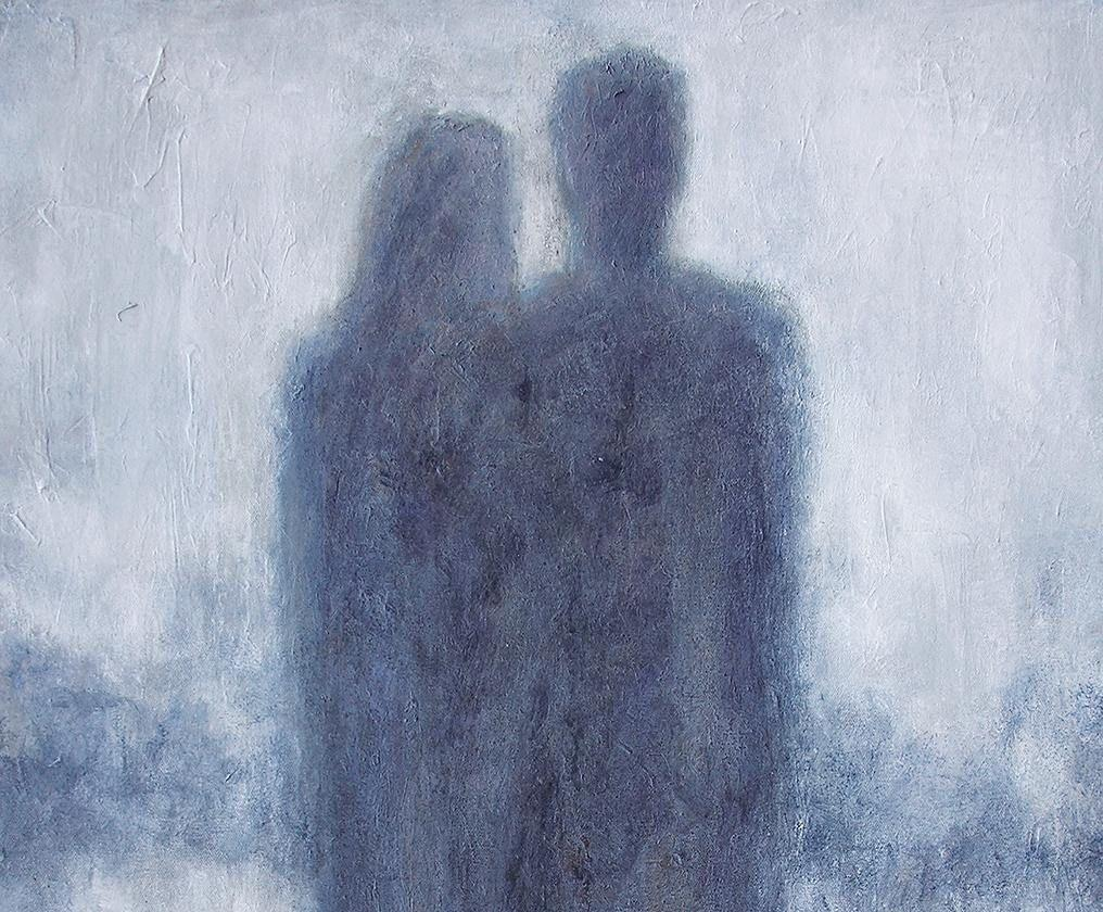 "Romantic Couple Painting on Canvas - 30 in x 40 in - ""Us""   SOLD!"