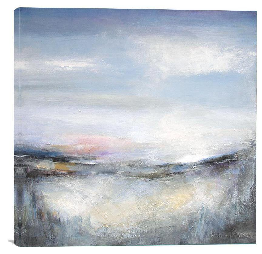 "Abstract Landscape Print on Canvas - ""In the Soft Light of Evening"""