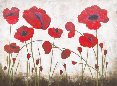 Red Poppy Wall Art Painting on Canvas