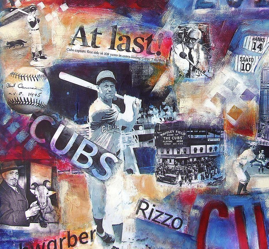"Cubs World Series Painting on Canvas - ""2016 World Series Victory"""