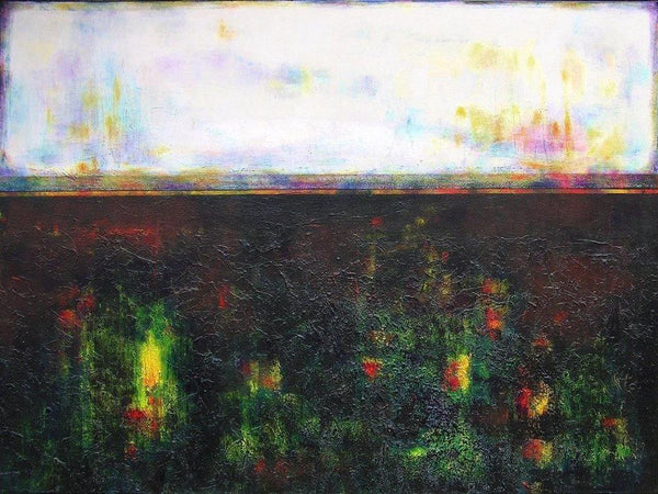 "Contemporary Landscape Print on Canvas- ""Springtime Fields"""