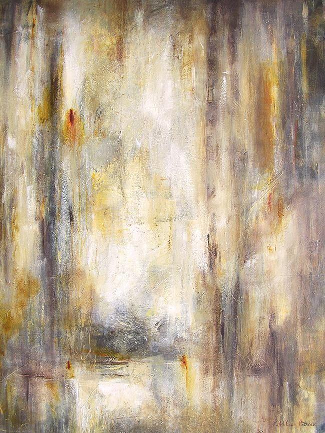 "Large Neutral Colored Abstract Painting - 48"" x 36"" - ""The Memory of Time"""