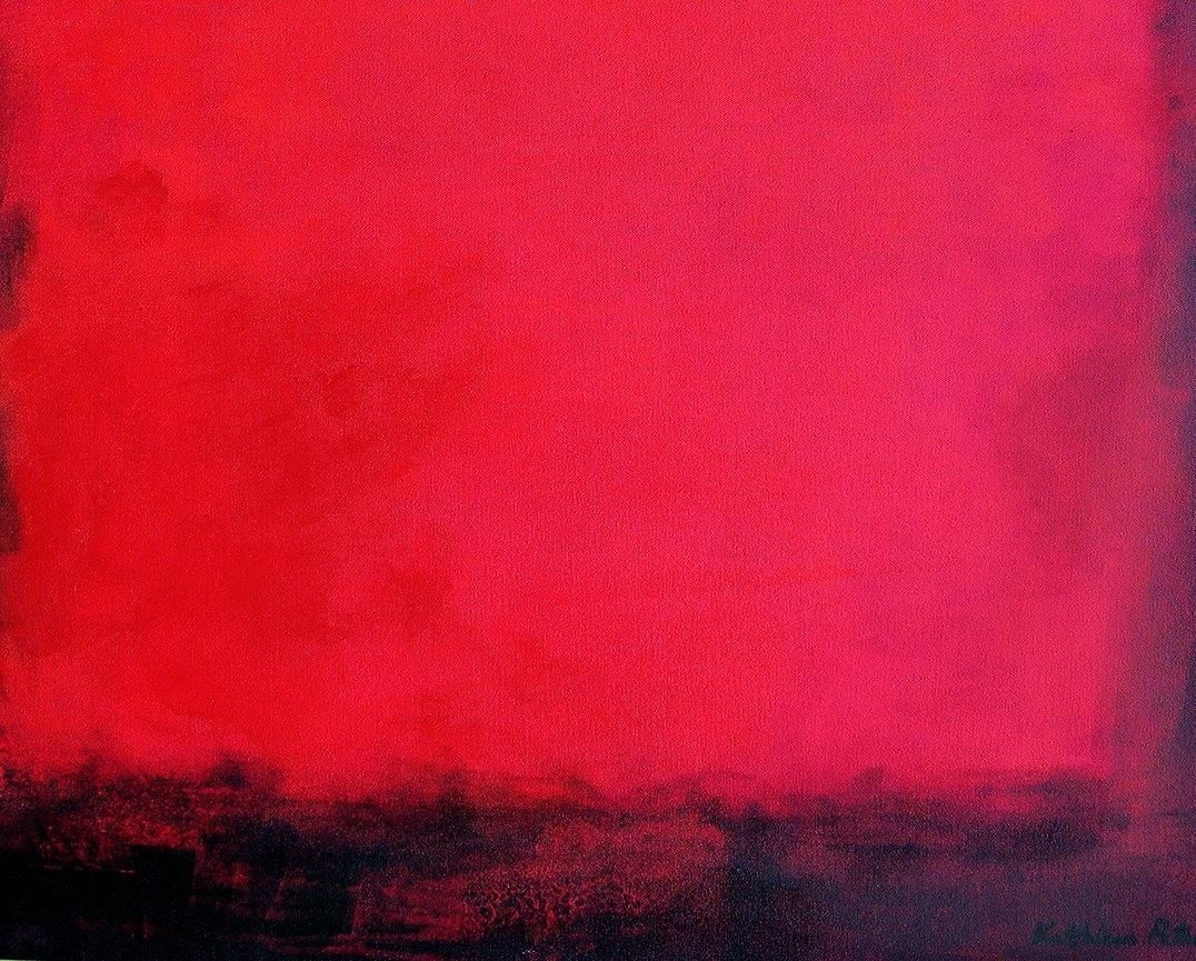 "Red Abstract Painting  - ""The Light Within"" - 48"" x 36"""