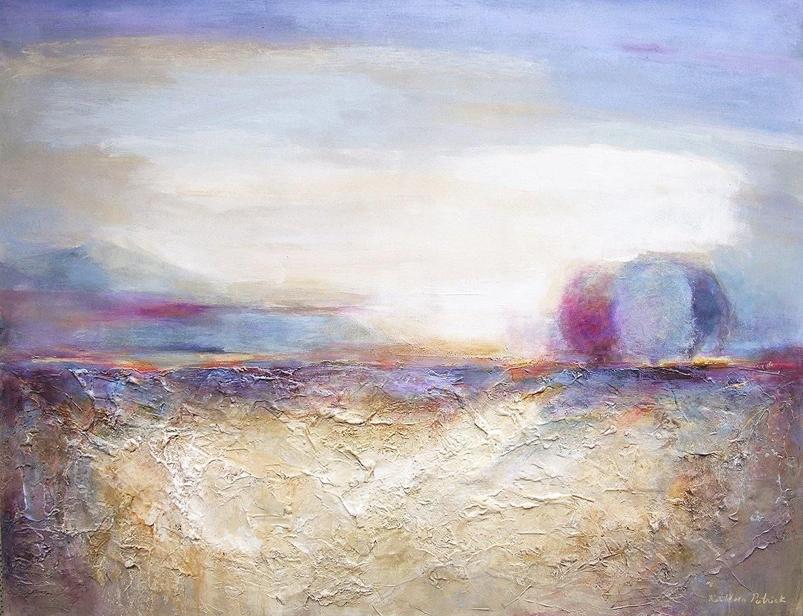 "Contemporary Landscape Painting - 36""x 48"" x 1.5"" - ""At Sunset"" -SOLD"