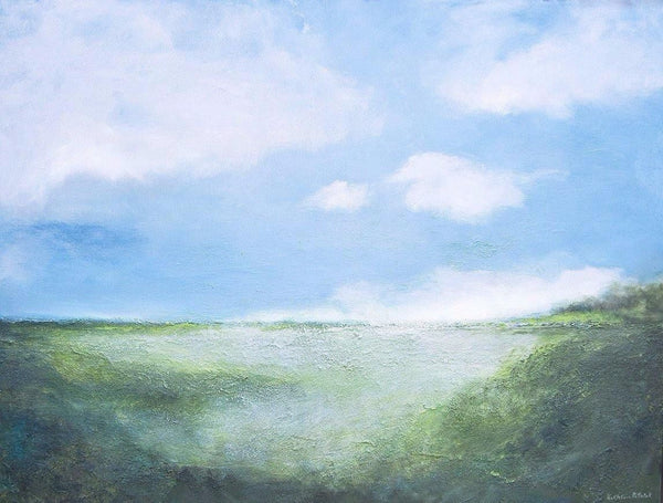 "Contemporary Landscape Painting  -""A Perfect Summer Day"" - 36"" x 48"" - SOLD"
