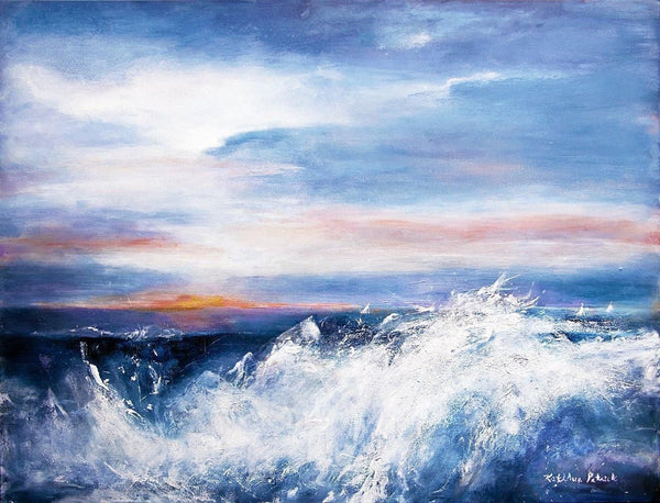 Ocean wave paintings - Original seascape; surf; tropical; sunset; painter; abstract; marine; art; gallery; Chicago art for sale.; contemporary art for sale; Chicago artists; Chicago art gallery