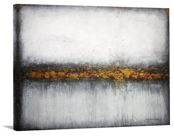 "Contemporary Neutral Landscape Print on Canvas- ""Misty Morning View"""