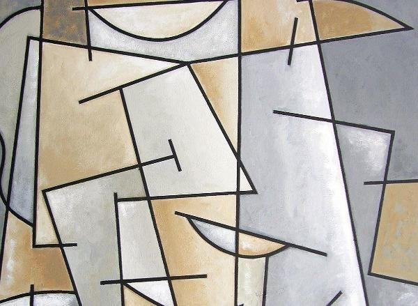 "Cubist Art Canvas Wrap Print - ""A Well Dressed Man"""