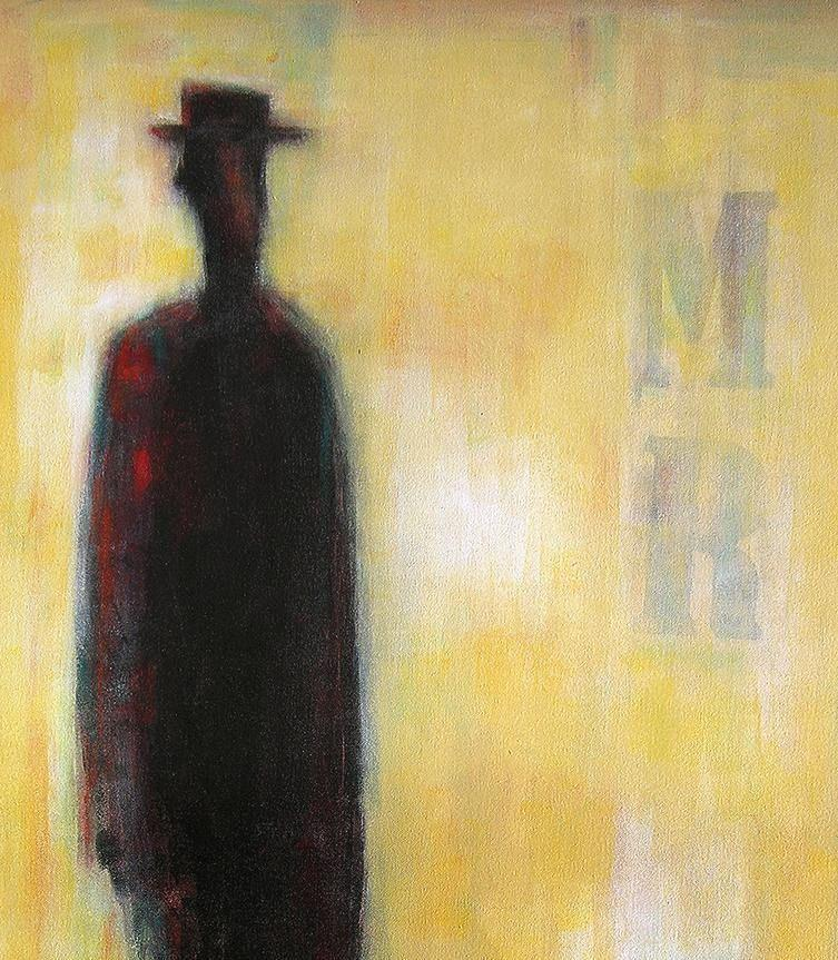 "Painting of a Man on Canvas - ""Mr. Man"" - 48"" x 36"""