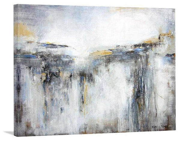 "Abstract Landscape Print on Canvas - "" A Distant Light"" - Chicago Skyline Art"