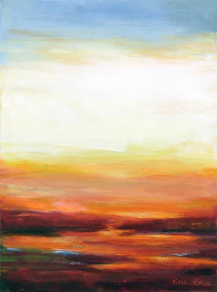 "Contemporary Landscape Painting - ""Distant Horizon"" - Print on Canvas"