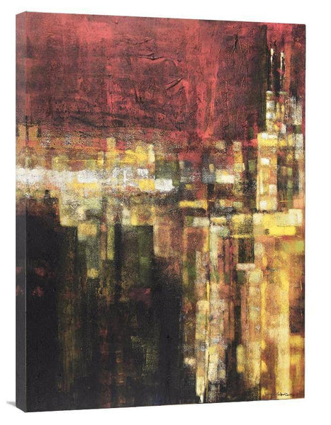 Abstract Cityscape Canvas Art Print