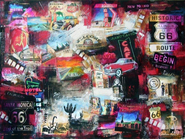 Travel art print on canvas Route 66