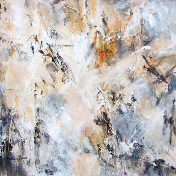 "Abstract Painting Print in Neutrals - ""With Traces of Time"""