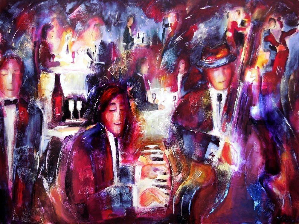 Romantic art Dining and Music painting