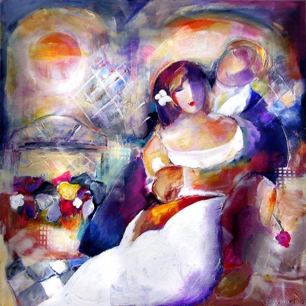 "Romantic Art Print on Canvas - ""In Love"""