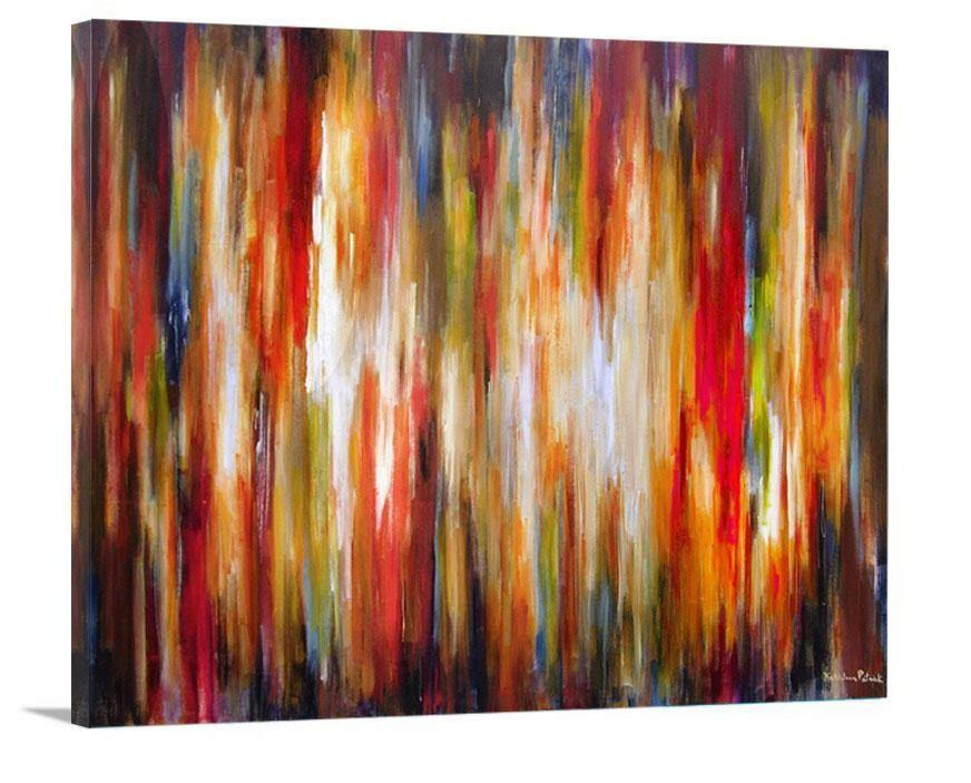 "Abstract Canvas Art Print- ""City Rhythms Tonight"" - Chicago Skyline Art"