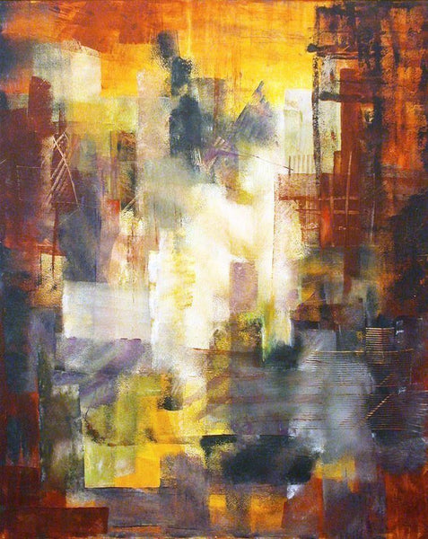 "Abstract Cityscape Wall Art - ""Inside the City"""