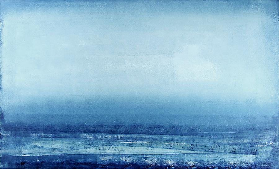 A misty blue seascape filled with mystique.
