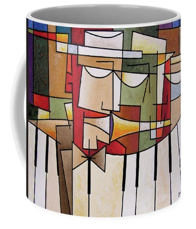 Cubist Music Art Coffee Mug